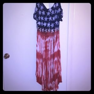 A patriotic sundress red white and blue